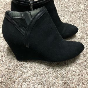 Women's black wedge booties size 8